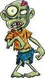 Зомби шаржа с большие глаза Стоковое Изображение
