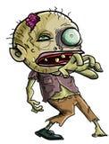 Зомби шаржа делая хватая движение Стоковое Изображение