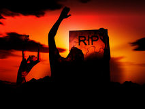Зомби 90 Стоковые Изображения RF