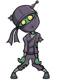 Зомби Ninja шаржа Стоковая Фотография RF