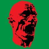 Зомби screams голова ½ ¿ ï иллюстрации Стоковые Изображения