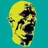 Зомби screams головная иллюстрация Стоковое Изображение