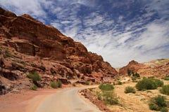 Зона ландшафта Джордана/Petra, Джордан Стоковое фото RF