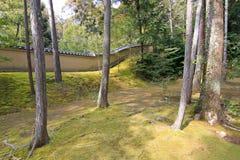 Зона ландшафта на виске Kinkakuji Стоковое Фото