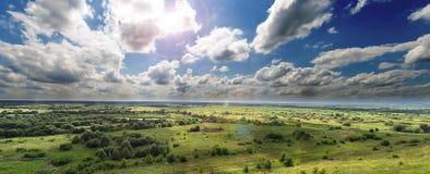 зона взгляда долины панорамного реки воздержательная Стоковое Изображение