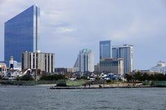 Зона входа Атлантик-Сити Стоковое Изображение