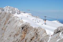 Зона катания на лыжах на горе Dachstein Стоковые Фото