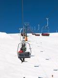 Зона катания на лыжах в доломитах Альпах Стоковые Изображения RF