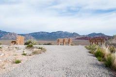Зона Лас-Вегас консервации красного каньона утеса национальная, NV Стоковая Фотография RF