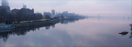Зона набережной городка Стоковое Фото