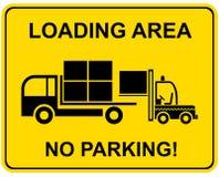 зона не нагружая никакую стоянку автомобилей Стоковые Изображения RF