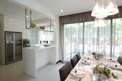 зона обедая кухня Стоковое фото RF