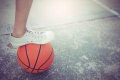 Зона обруча баскетбола публично Стоковая Фотография