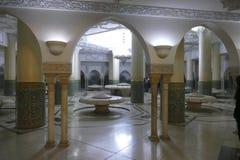 Зона омовений мечети Хасана II стоковое фото