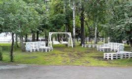 Зона отдыха в саде города Стоковая Фотография RF