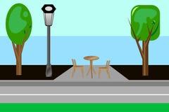Зона парка установьте ослабьте к также вектор иллюстрации притяжки corel Стоковая Фотография