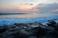 Зона пляжа отголоска в Canggu, Бали стоковое изображение rf