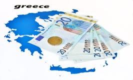 зона помощи Греции евро кризиса европейская Стоковые Фото