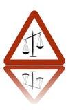 зона правосудия предупреждающая стоковые фото