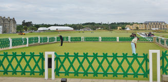 Зона практики, поле для гольфа Сент-Эндрюса, Шотландия Стоковые Фото