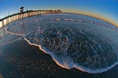 зона прибоя восхода солнца Стоковые Фотографии RF