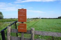 Зона природы Reeuwijkse Plassen, Нидерланды Стоковое Фото