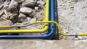 зона рафинировки масла оборудования промышленная самая новая Установка Overground, трубопровод для transmiss Стоковая Фотография RF