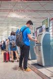 Зона регистрации обслуживания собственной личности, Пекин прописное Internationa Aiport Стоковое фото RF