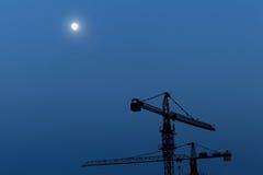 Зона реконструкции на ноче Стоковая Фотография RF