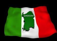 зона Сардиния флага итальянская Стоковая Фотография RF