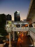 Зона станции Phrom Phong в ноче Стоковые Изображения