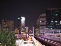 Зона станции Phrom Phong в ноче Стоковая Фотография