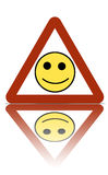 зона счастливого знака предупреждающая стоковое изображение rf