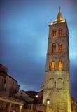 Зона форума и церков Zadar стоковое фото