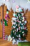 Зона фото рождества в винтажном стиле Стоковое Фото