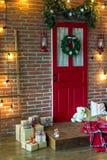 Зона фото рождества в винтажном стиле Стоковая Фотография