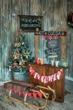 Зона фото рождества в винтажном стиле Стоковое фото RF