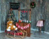 Зона фото рождества в винтажном стиле Стоковое Изображение RF