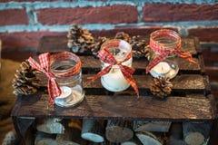 Зона фото рождества в винтажном стиле Стоковые Фотографии RF