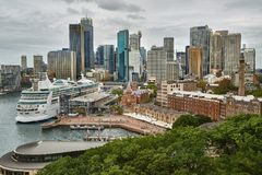 Зона центра Сиднея Стоковое Изображение