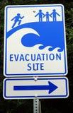 зона цунами знака опасности Стоковое Фото