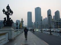 Зона Conmercial столетия Тяньцзиня строя Перемещение в Тяньцзине, хи Стоковое фото RF
