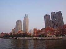 Зона Conmercial столетия Тяньцзиня строя Перемещение в Тяньцзине, хи Стоковое Изображение RF