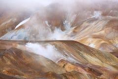 Зона Kerlingarfjoll геотермическая, Исландия Стоковое Фото