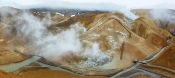 Зона Kerlingarfjoll геотермическая, Исландия Стоковые Фото