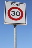 зона 30 km/h Стоковая Фотография