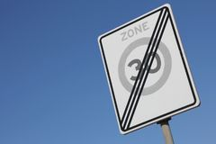 зона 30 km/h Стоковые Фотографии RF
