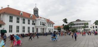 Зона Kota Tua Hall, северная Джакарта - Индонезия стоковое изображение rf