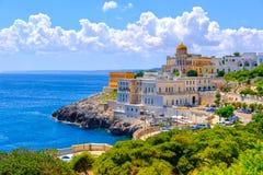 Зона Lecce южная Италия Санты Cesarea Terme Salento Apulia стоковое изображение rf
