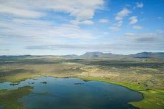 Зона Myvatn в Исландии стоковое изображение rf